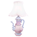 Teapot Table Lamp, Tea Party Nursery Decor | Tea Party Wall Decals | ABaby.com