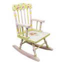 Pink Crackle Finish Rocker, Kids Rocking Chairs | Kids Rocker | Kids Chairs | ABaby.com