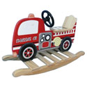 Fire Engine Rocking Horse, Kids Rocking Horse | Personalized Rocking Horses | ABaby.com