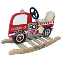 Personalized Fire Engine Rocking Horse, Fireman Themed Toys | Kids Toys | ABaby.com