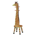 Giraffe Stool with Coat Stand, African Safari Themed Nursery | African Safari Bedding | ABaby.com