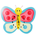 Magic Garden Wall Clock, Butterfly Nursery Decor | Butterfly Wall Decals | ABaby.com