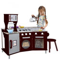 My Little Chef Deluxe Play Kitchen, Kids Play Kitchen Sets | Childrens Play Kitchens | ABaby.com