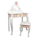 Princess and Frog Vanity Table & Chair Set, Prince & Princess Nursery Decor | Baby Themes | Bedding