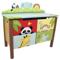Sunny Safari Toy Box, African Safari Themed Nursery | African Safari Bedding | ABaby.com