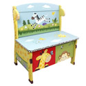 Sunny Safari Storage Bench, African Safari Themed Nursery | African Safari Bedding | ABaby.com