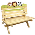 Sunny Safari Outdoor Bench, African Safari Themed Nursery | African Safari Bedding | ABaby.com