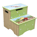 Ride Around Storage Step Stool, Train And Cars Themed Toys | Kids Toys | ABaby.com