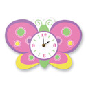 Baby Butterfly Wall Clock, Butterfly Nursery Decor | Butterfly Wall Decals | ABaby.com
