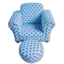 Children's Polka Dot Club Chair with Ottoman, Kids Upholstered Chairs | Personalized Upholstered Chairs | ABaby.com