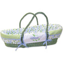 Caterpillar Moses Basket, Moses Baskets With Stands | Baby Moses Baskets | ABaby.com
