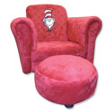 Cat in the Hat Chair with Ottoman, Kids Upholstered Chairs | Personalized Upholstered Chairs | ABaby.com