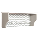 Chevron Wall Shelf with Hooks