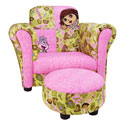 Dora �Exploring the Wild� Club Chair & Ottoman, Kids Upholstered Chairs | Personalized Upholstered Chairs | ABaby.com