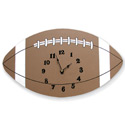 Football Wall Clock, Sports Nursery Decor | Sports Wall Decals | ABaby.com