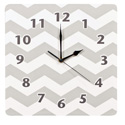 Chevron Wall Clock, Prince & Princess Nursery Decor | Baby Themes | Bedding