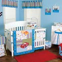 NASCAR� Crib Bedding Set, Train And Cars Themed Nursery | Train Bedding | ABaby.com