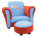 NASCAR� Club Chair and Ottoman, Kids Upholstered Chairs | Personalized Upholstered Chairs | ABaby.com