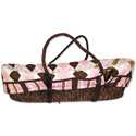 Prep School Moses Basket, Baby Baskets For Girls | Girls Moses Baskets | ABaby.com