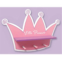 Tiara Shelf with Peg Hooks, Peg Shelves | Kids Nursery Wall Shelves | ABaby.com