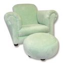 Children's Velour Chair, Kids Upholstered Chairs | Personalized Upholstered Chairs | ABaby.com