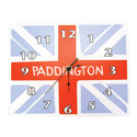 Paddington Bear Union Jack Wall Clock, Prince & Princess Nursery Decor | Baby Themes | Bedding