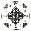 Versailles Black & White Wall Clock, Nursery Clocks | Kids Wall Clocks | ABaby.com