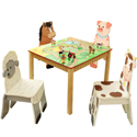 Happy Farm Table and Chair Set, Farm Animals Themed Toys | Kids Toys | ABaby.com