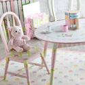 Pink Crackle Finish Table and Chair Set