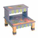 Under The Sea Step Stool, Step Stools For Children | Kids Stools | Kids Step Stools | ABaby.com