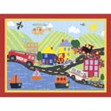 To The Rescue Artwork, Train And Cars Themed Nursery | Train Bedding | ABaby.com