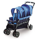 Trio Triple Tandem Stroller, Multiple Strollers | Twin Strollers | Double Strollers | ABaby.com