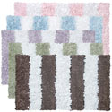 Striped Shaggy Raggy Rug, Solid Rugs | Kids Pink Rugs | Baby Pink Rugs | ABaby.com