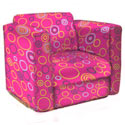Circles Kid's Upholstered Rocker, Kids Rocking Chairs | Kids Rocker | Kids Chairs | ABaby.com