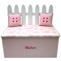 Picket Fence Toy Box Bench, Kids Storage Bins | Personalized Kids Toy Boxes | ABaby.com