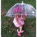 Monogrammed Clear Umbrella, Personalized Baby Gifts | Gifts for Kids | ABaby.com