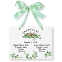 Twins Two Peas In A Pod Birth Certificate, Name Wall Plaques | Baby Name Plaques | Kids Name Plaques