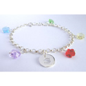 Swarovski Flower Crystal Initial Bracelet, Personalized Baby Gifts | Gifts for Kids | ABaby.com