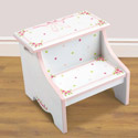 Ballet Blooms Step Stool, Step Stools For Children | Kids Stools | Kids Step Stools | ABaby.com