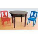Chocolate Game Table and Chairs Set, Children Table And Chair Sets | Toddler Table And Chairs | ABaby.com