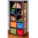 Chocolate Cork and Bin Bookshelf, Kids Bookshelf | Kids Book Shelves | ABaby.com