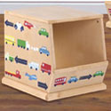 Traffic Jam Stackable Bin, Train And Cars Themed Nursery | Train Bedding | ABaby.com