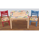 Traffic Jam Table and Chairs Set, Train And Cars Themed Nursery | Train Bedding | ABaby.com