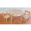 Vintage Baseball Cards Table and Chair Set, Sports Themed Furniture | Baby Furniture | ABaby.com