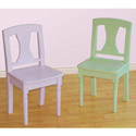 Pastels Game Set of Two Chairs, Kids Chairs | Personalized Kids Chairs | Comfy | ABaby.com