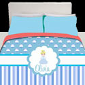 Personalized Cinderella Toddler Bedding,