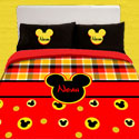 Personalized Mickey Mouse Toddler Bedding,