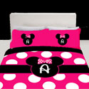 Personalized Minnie Mouse Toddler Bedding,