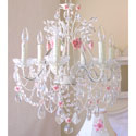 Roses 6 Light Chandelier, Nursery Lighting | Kids Floor Lamps | ABaby.com