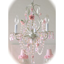Sage Rose 3 Light Chandelier, Nursery Chandeliers | Baby Chandeliers | ABaby.com